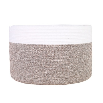 Dirty clothes storage bin decorative cotton laundry basket