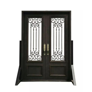 Square Top Iron Entry Door