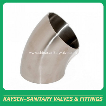 BPE Sanitary welded elbow 45 degree