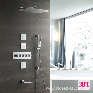 HIDEEP Bath Four Function Thermostatic Rain Shower Mixer