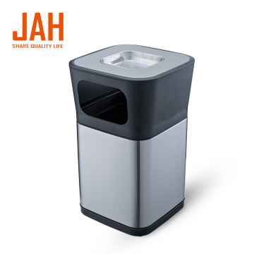 JAH Outdoor Indoor Hotel Trash Can with Ashtray