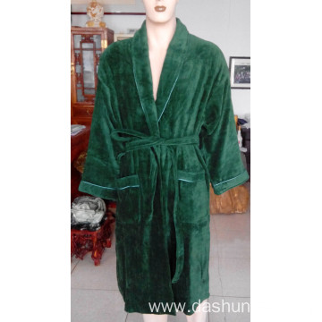 100% cotton velvet bathrobe