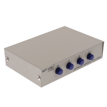 4 Port A B Manual Network Sharing Switch Box 4In1 1In4 RJ45 Ethernet Switcher 100M 4-port network interface switcher