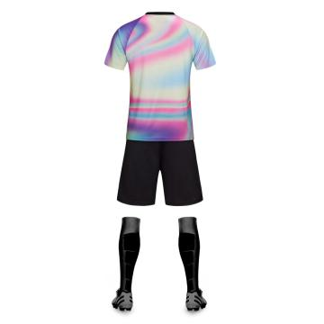 Color matching soccer jersey  V-neck uniform