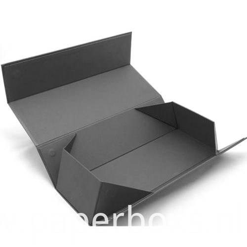 Black Cardboard clothes paper folding box