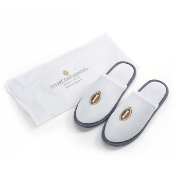 Disposable cotton hotel women slippers with bag