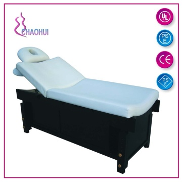 PVC wooden beauty bed with breathing hole pillow