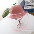 Pink Little Grass Anti-droplet Hat for Children