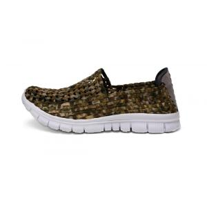 Geometrically Regular Pattern Hand-woven Design Hollow Shoes