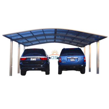 Outdoor Mobile Metal Cantilever Polycarbonate Carport
