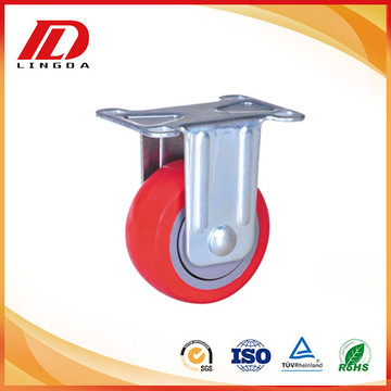 3 inch industrial plate caster fixed wheels