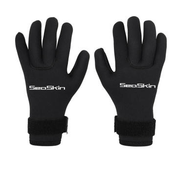 Seaskin Adult Neoprene Gloves Black 3mm Diving Gloves