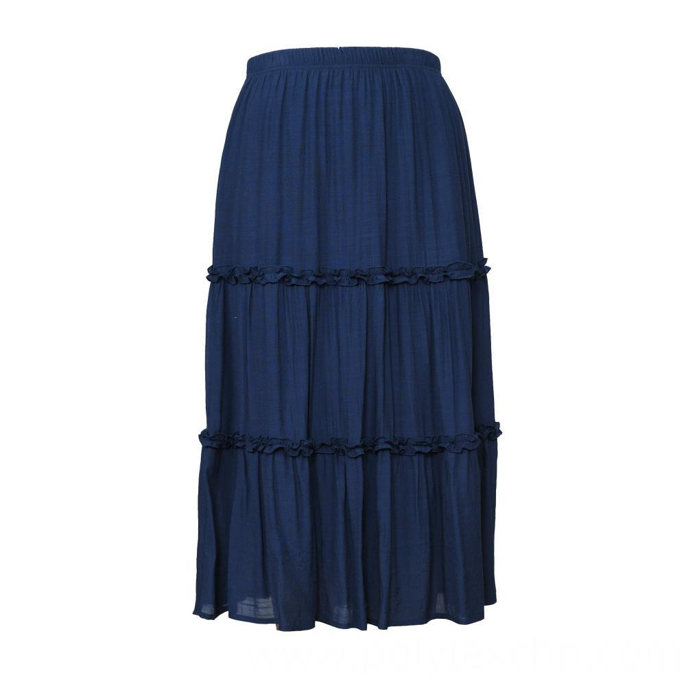 White Color Pleated Women Skirt