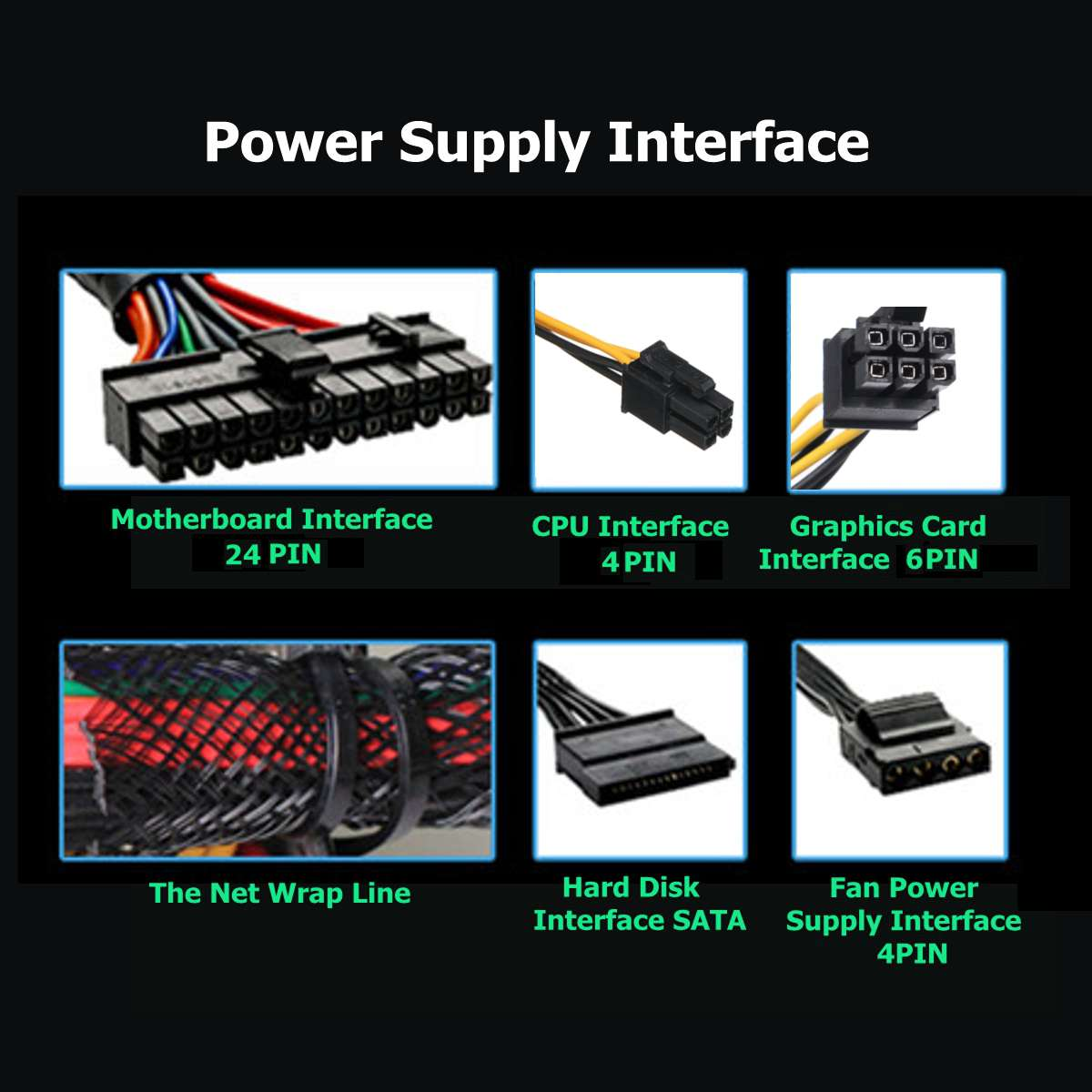 750 220V PC Power Supply 12cm LED silent Fan with Intelligent temperature control Intel AMD ATX 12V for Desktop computer