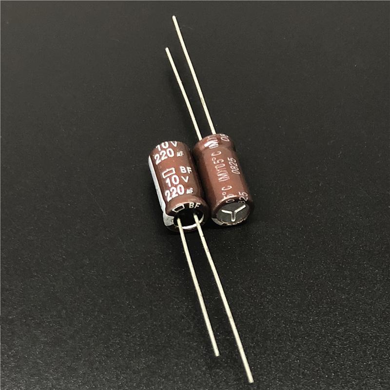 50pcs 220uF 10V NIPPON BF Series 6x12mm 10V220uF motherboard Electrolytic capacitor