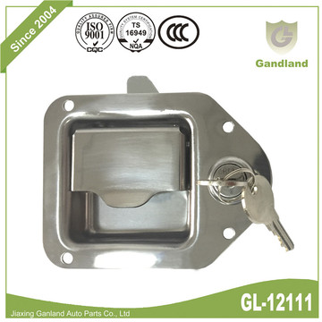 Recessed Flush Paddle Latch Tear Drop Lock