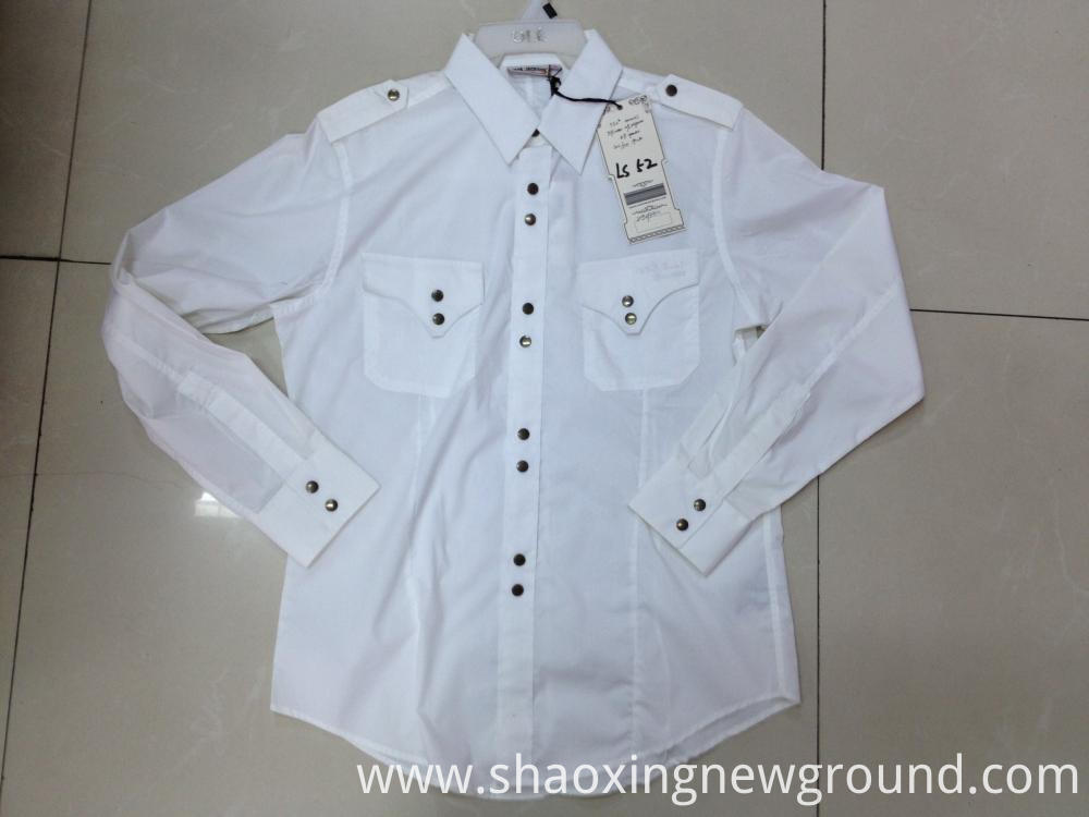 White cotton check shirt