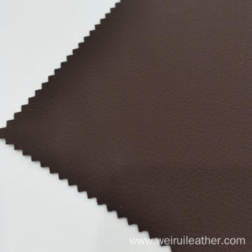 Deep Brown Litchi Grain PVC Leather