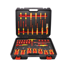 55pcs VDE socket screwdriver and plier set