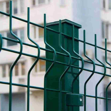 foldable garden fence bend green coated 3d fence