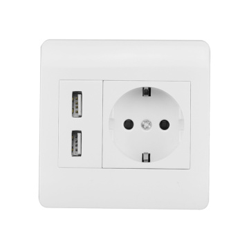 EU plug usb wall socket outlet