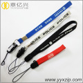 custom printed short wrist lanyard with phone string