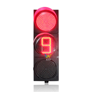 400mm led traffic warning signal light countdown timer