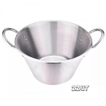 22Quart Stainless Steel Large Cazo with Sandwich Bottom