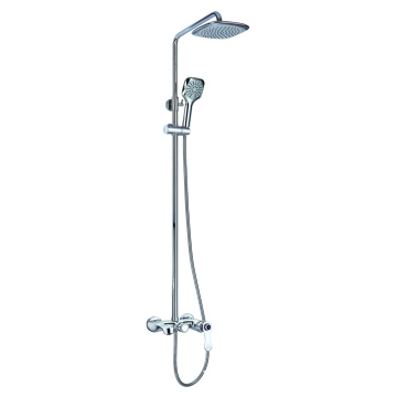Shower faucet set with tub shower kit brass