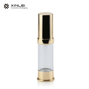 20ml Empty Gold Cosmetic Plastic Airless Bottle