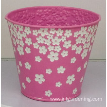 Three-dimensional embossed flower bucket