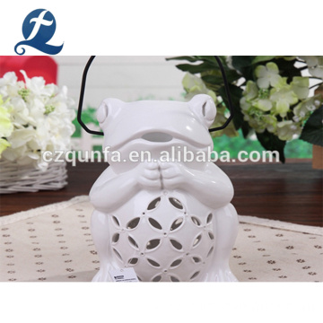 Frog Shape Ceramic Garden Flower Pots With Handle