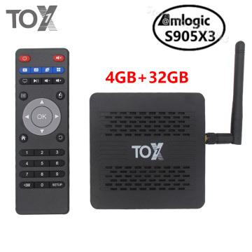 2020 TOX1 Amlogic S905X3 Android 9.0 Smart TV Box 4GB 32GB 2.4G 5G WiFi Bluetooth 1000M 4K Media player