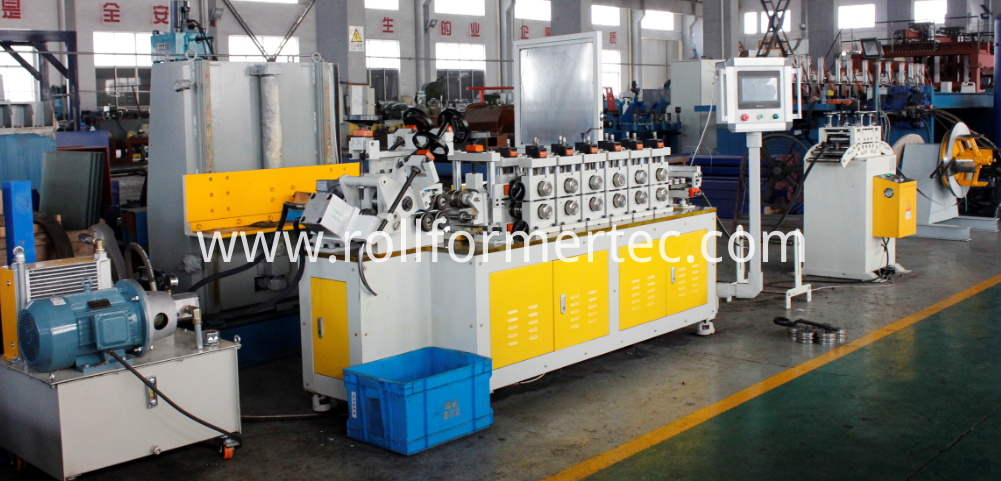 Roll formed V-clamp machine