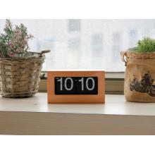 Bamboo or Wooden Meterial Box Flip Clock