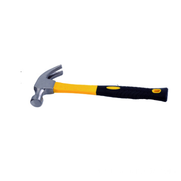 Claw hammer with fiberglass handle  12oz