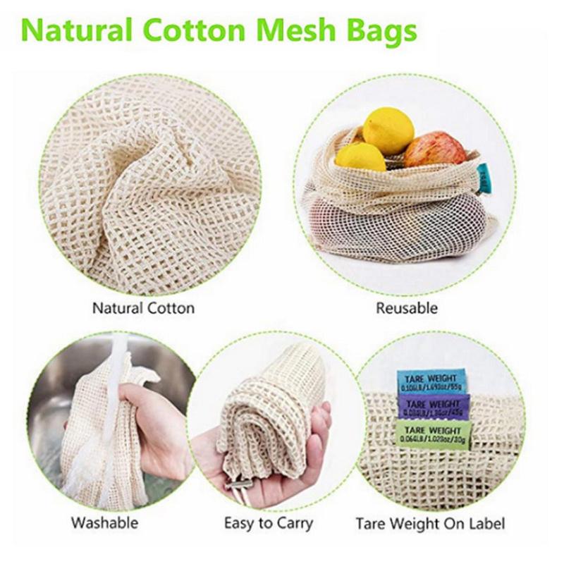 Potato Storage Bag Store Vegetable Onion Fresh Food Reusable Drawstring Reusable Fruit And Vegetable Net Bags Market Bag