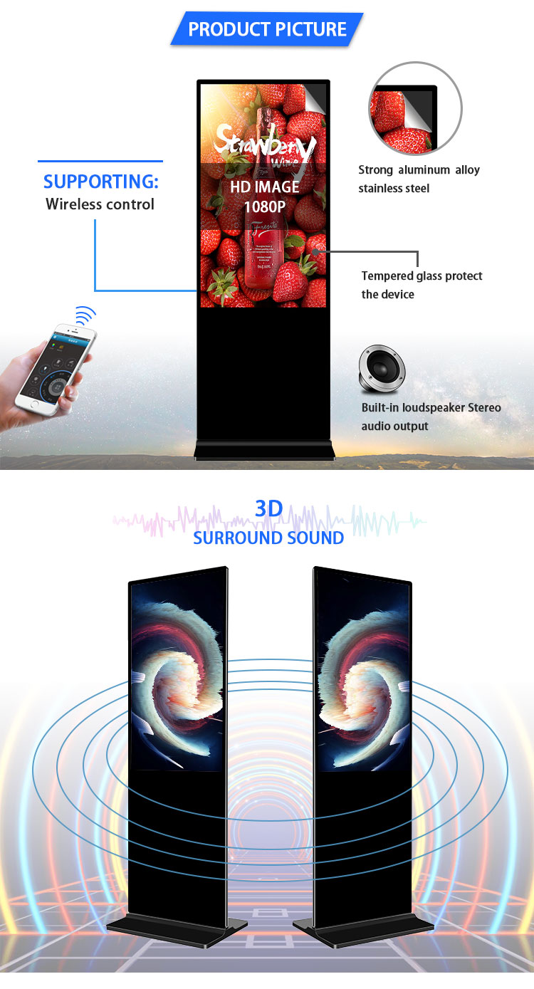 Android system Multi-touch Interactive advertising display stands