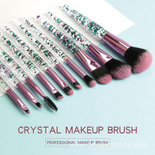 Crystal Rhinestone Makeup Brush Set Professional  Kit
