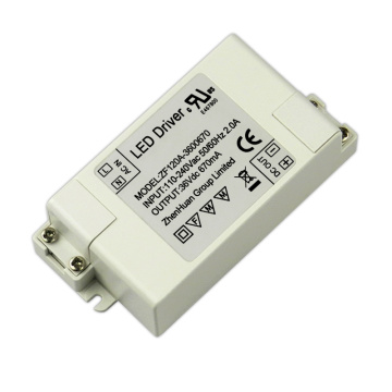 24W 36V 670mA DC Led Driver Plastic Housing
