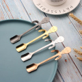 stainless skeleton shape hanging coffee spoon scoop