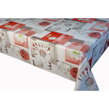 Wholesale rectangle printed plastic wipe clean tablecloth