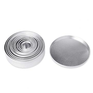 14PCS Round Shape Stainless Steel Custom Cookie Cutters