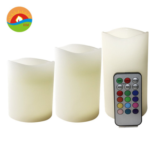 Rechargeable birthday number battery candles set