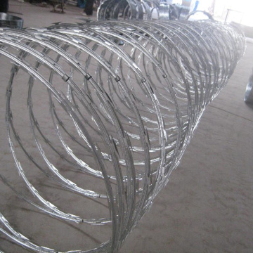hot dip galvanized concertina blade razor barbed wire