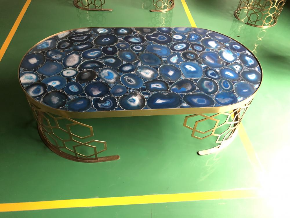 Blue Agate Dining Table