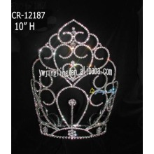 Wholesale Large Size Rhinestone Pageant Crowns