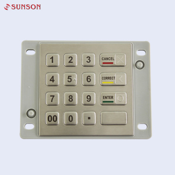 Vandal Resistant Waterproof PINpad For Indoor And Outdoor Kiosk