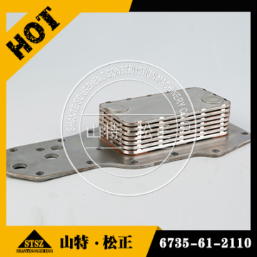 Genuine HD465-7 oil cooler core 6261-61-2110 SAA6D170E-3
