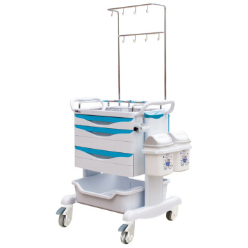 Hospital Steel ABS Multi-functional Treatment Trolley